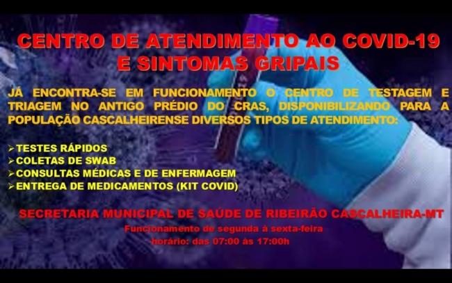 CENTRO DE ATENDIMENTO AO COVID-19 E SINTOMAS GRIPAIS